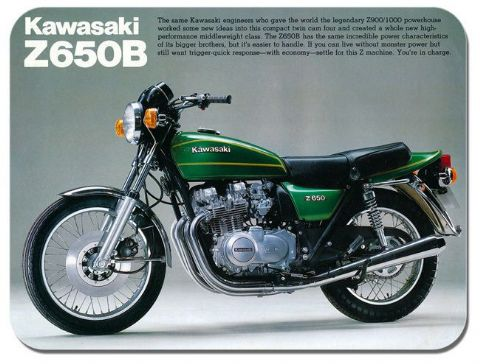 Vintage Z650B Brochure Motorbike Ad Mouse Mat. Motorcycle High Quality Mouse pad